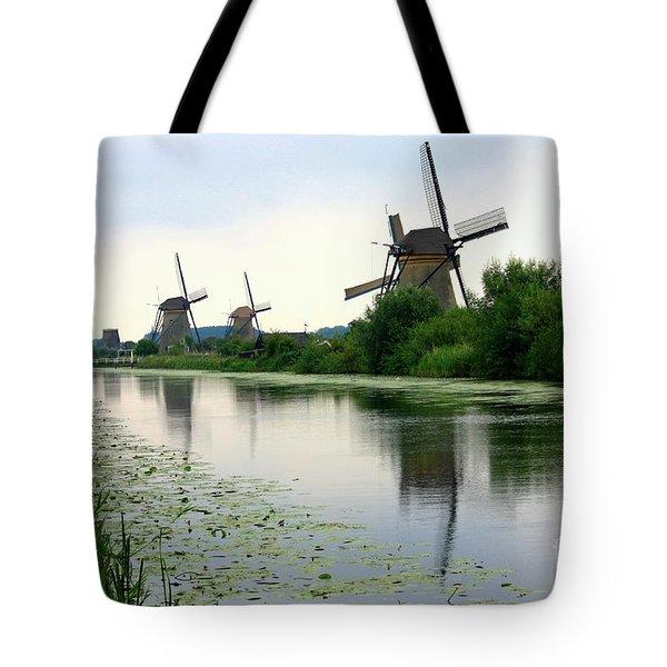 Peaceful Dutch Canal Tote Bag by Carol Groenen