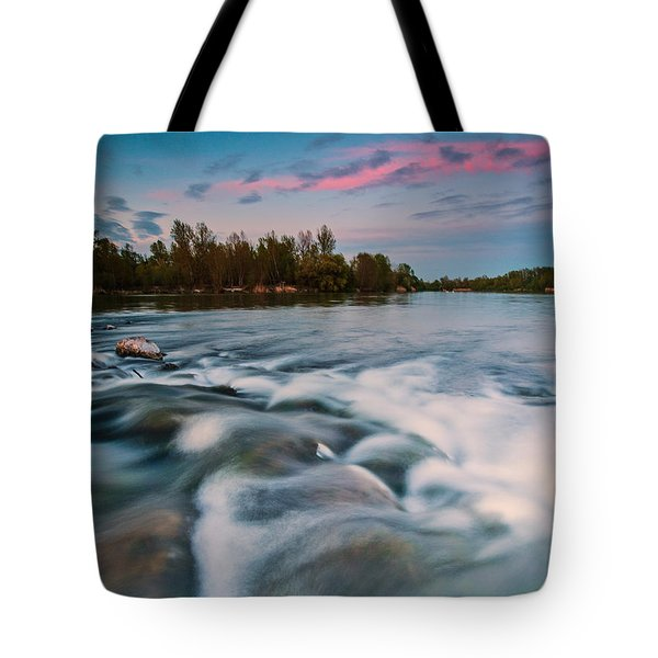 Peaceful evening Tote Bag by Davorin Mance