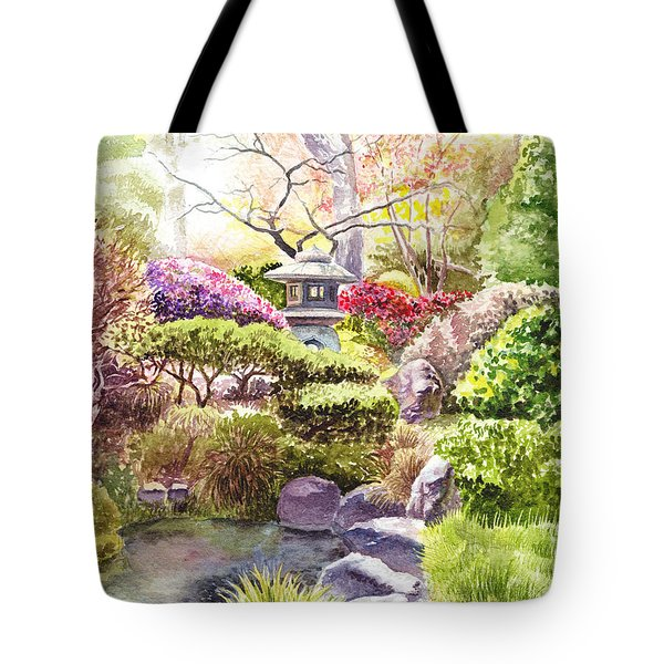 Peaceful Garden Tote Bag by Irina Sztukowski