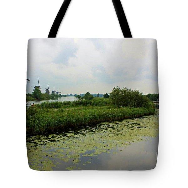 Peaceful Kinderdijk Tote Bag by Carol Groenen