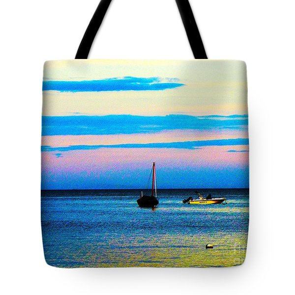 Peaceful Ocean Evening Tote Bag by Annie Zeno