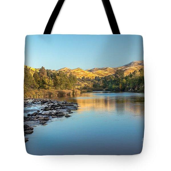 Peaceful River Tote Bag by Robert Bales