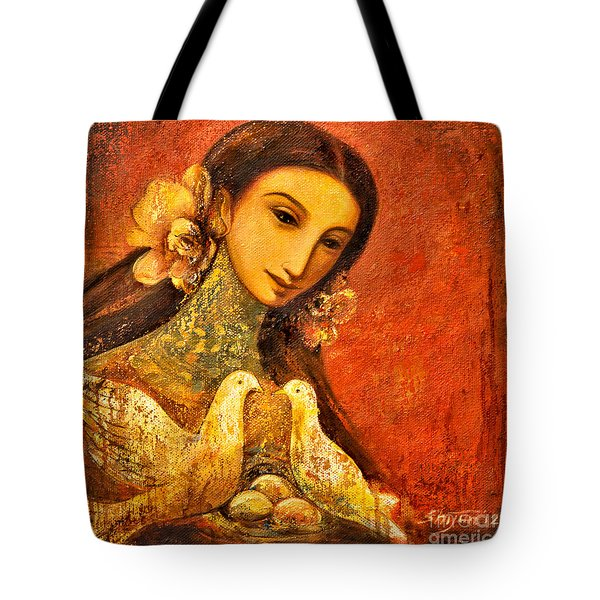 Peaceful Tote Bag by Shijun Munns