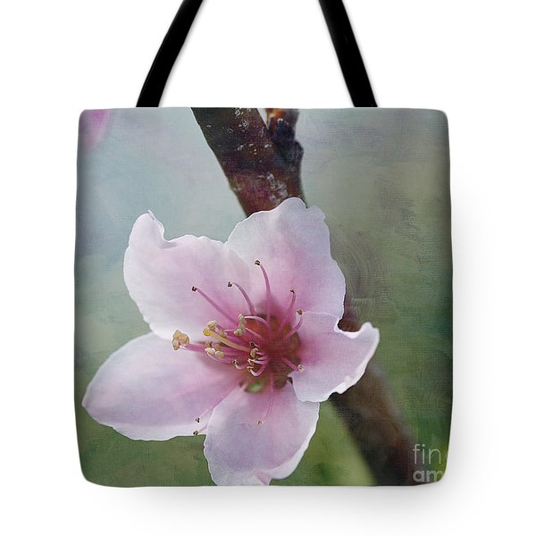 Peach Blossom 2 Tote Bag by Cindi Ressler