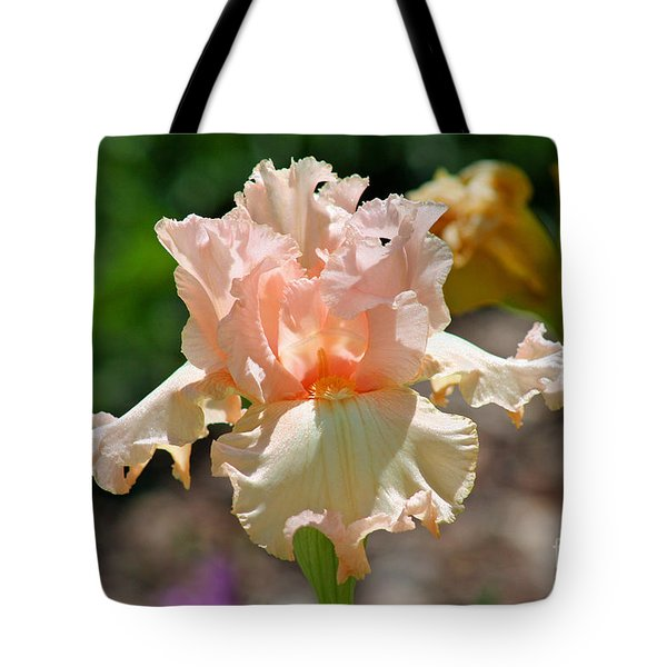 Peach-colored Iris Tote Bag by Karen Adams