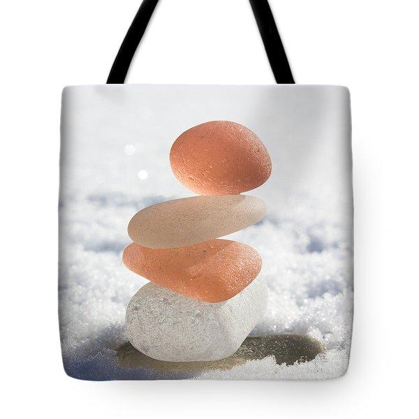Peach Smoothie Tote Bag by Barbara McMahon