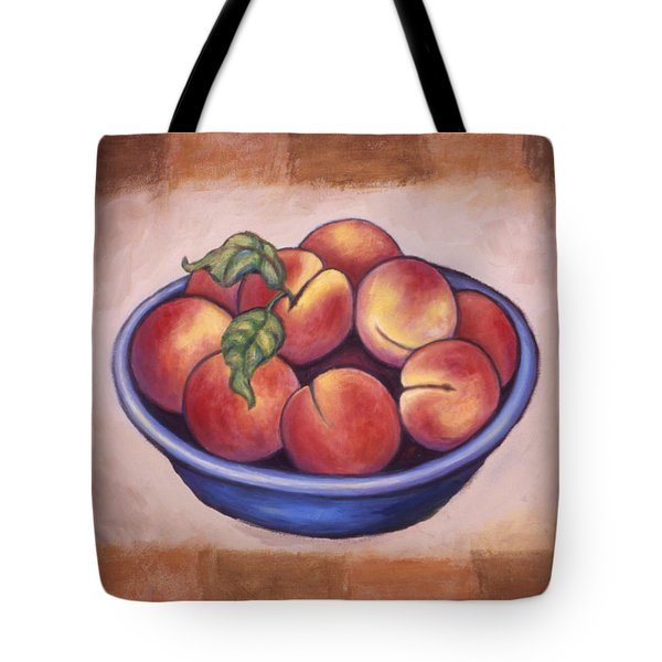 Peaches Tote Bag by Linda Mears