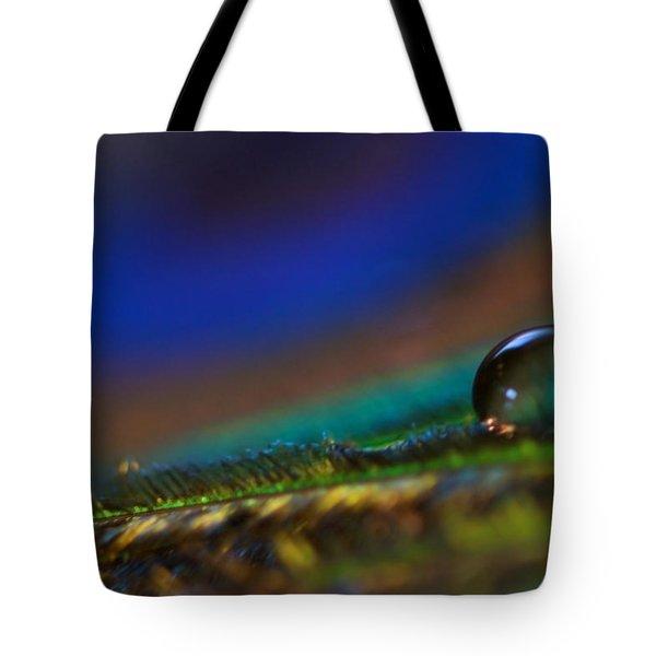 Peacock Drop Tote Bag by Lisa Knechtel