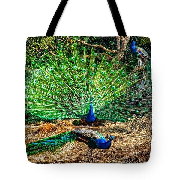 Peacocking Tote Bag by Omaste Witkowski