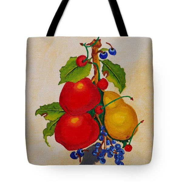 Pear And Apples Tote Bag by Johanna Bruwer