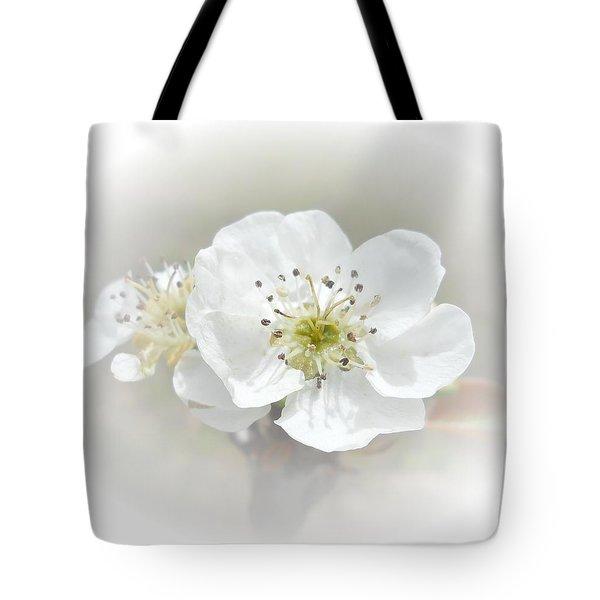 Pear Blossom Tote Bag by Judy Hall-Folde