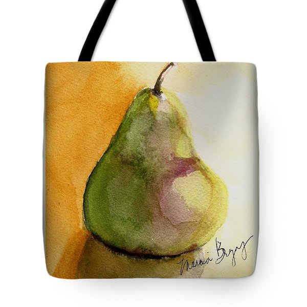 Pear Tote Bag by Marcia Breznay
