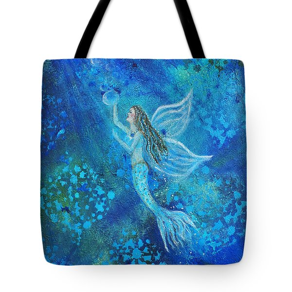 Pearl Out Of The Depths Tote Bag by The Art With A Heart By Charlotte Phillips