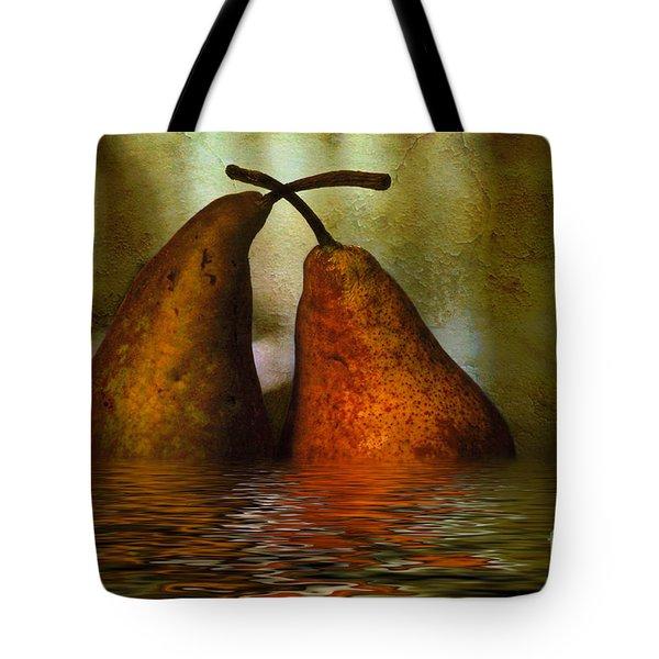 Pears In Water Tote Bag by Kaye Menner