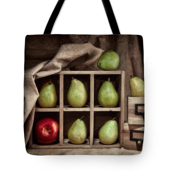 Pears On Display Still Life Tote Bag by Tom Mc Nemar