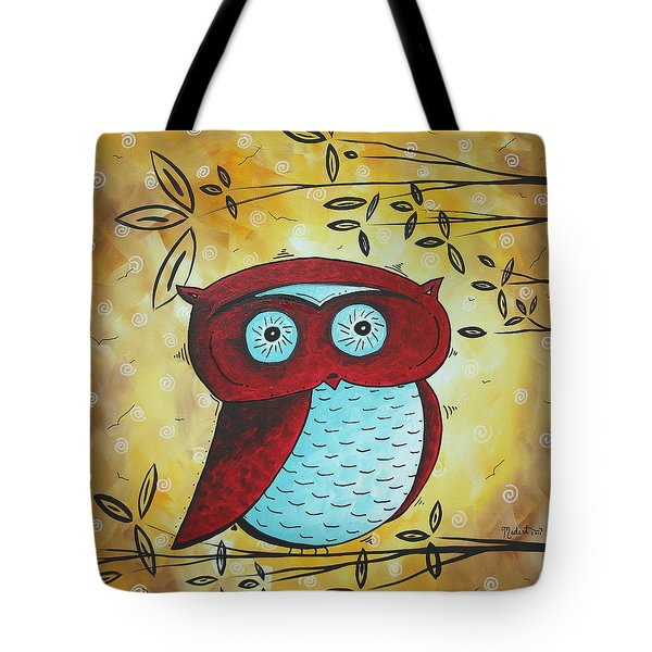 Peekaboo by MADART Tote Bag by Megan Duncanson