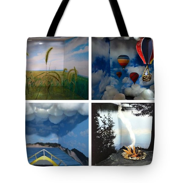Peepholes Tote Bag by Michelle Calkins