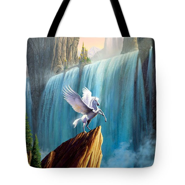 Pegasus Kingdom Tote Bag by Garry Walton