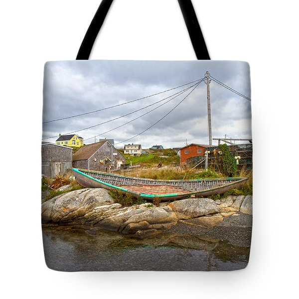 Peggy's Cove 10 Tote Bag by Betsy C Knapp