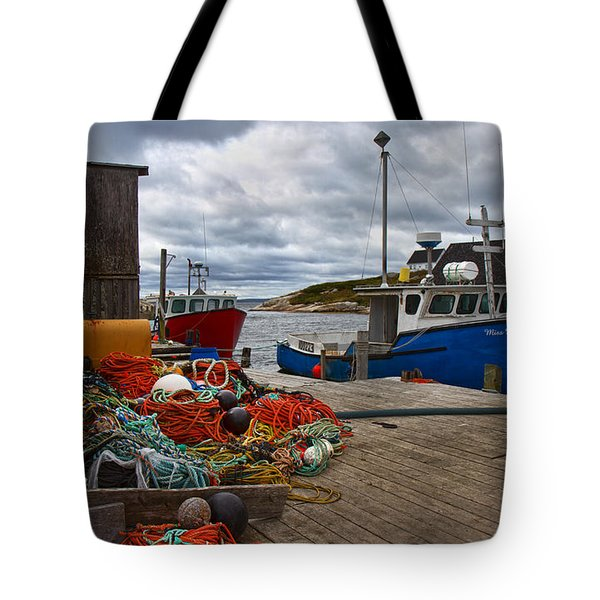 Peggy's Cove 18 Tote Bag by Betsy C  Knapp