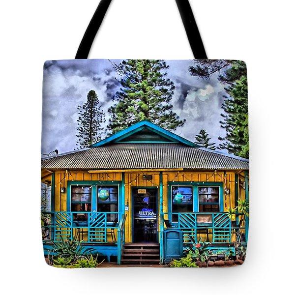 Pele's Lanai Island Hawaii Tote Bag by DJ Florek