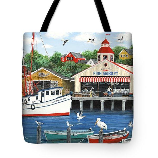 Pelican Bay Tote Bag by Wilfrido Limvalencia