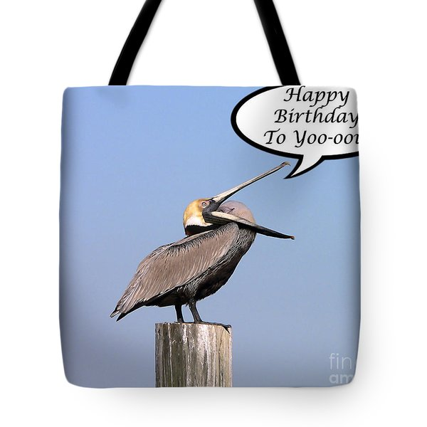 Pelican Birthday Card Tote Bag by Al Powell Photography USA