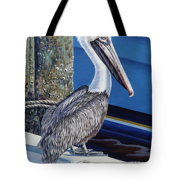 Pelican Blues Tote Bag by Danielle  Perry