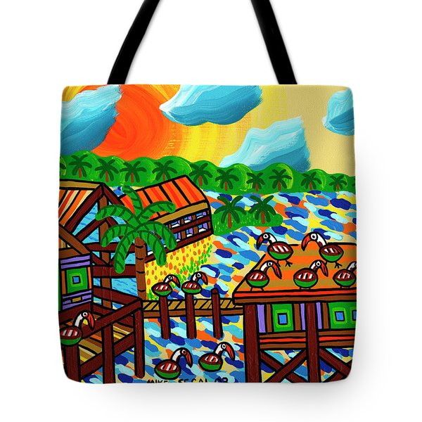 Pelican Convention Cedar Key Tote Bag by Mike Segal