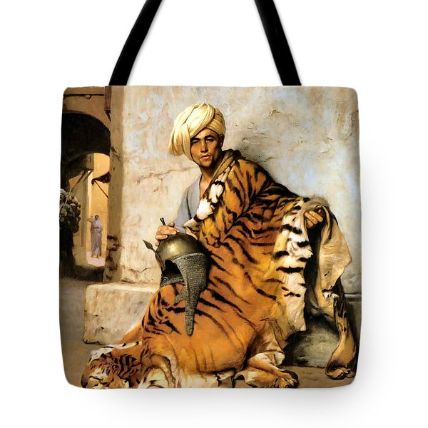 Pelt Merchant  Tote Bag by Jean Leon Gerome