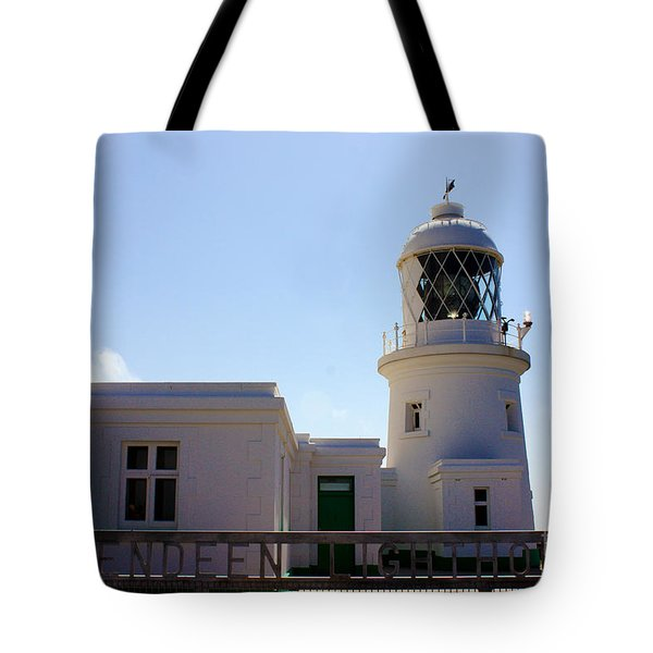 Pendeen Lighthouse Cornwall Tote Bag by Terri  Waters