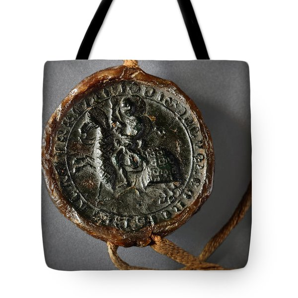 Pendent Wax Seal Of The Council Of Calahorra Tote Bag by RicardMN Photography
