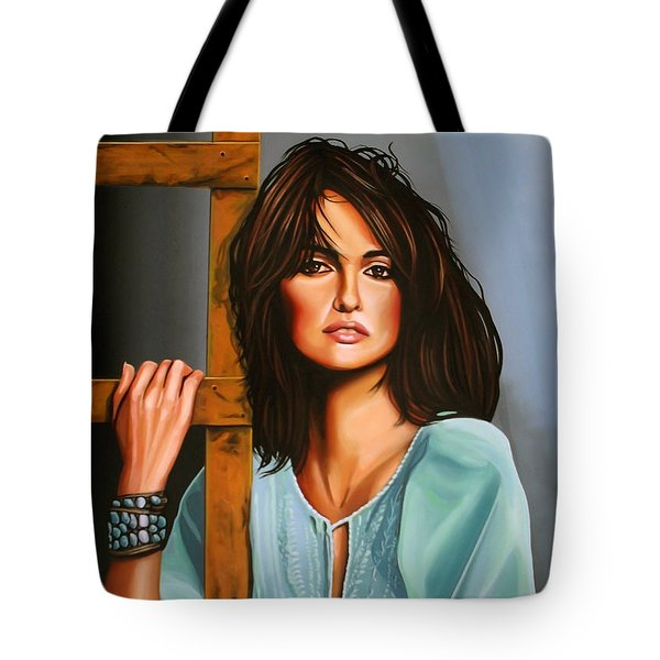 Penelope Cruz Tote Bag by Paul Meijering