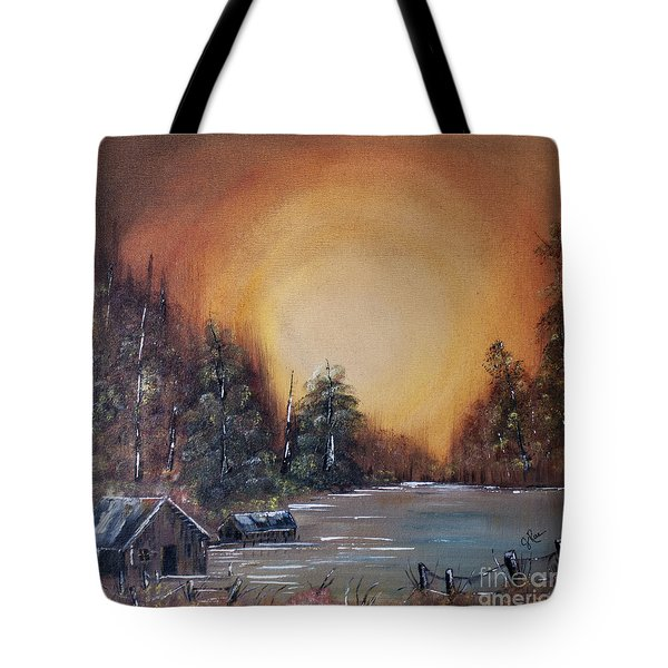 Pennsylvania Shenango Dawn In Oil Tote Bag by Janice Rae Pariza
