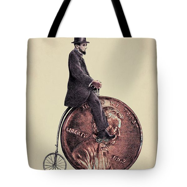 Penny Farthing Tote Bag by Eric Fan