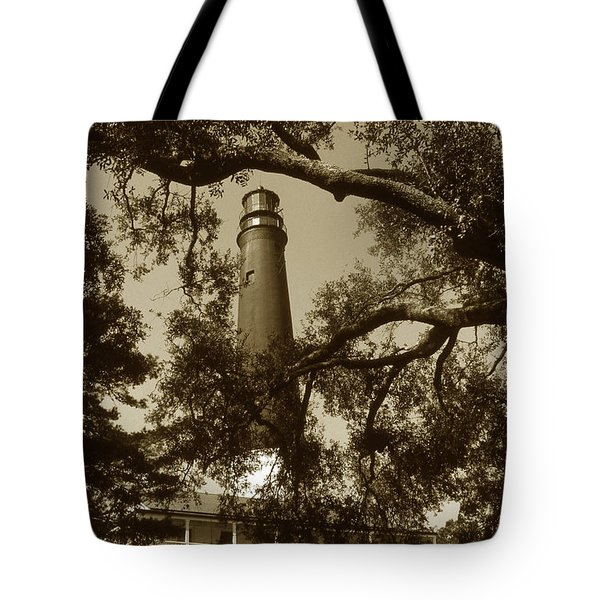 Pensacola Lighthouse Tote Bag by Skip Willits