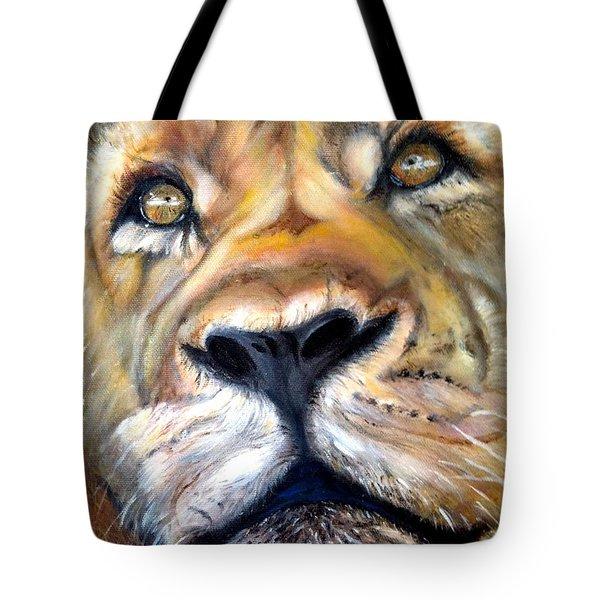 Pensive Tote Bag by Harlene Bernstein
