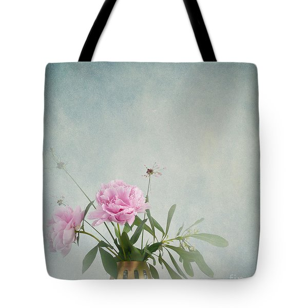 Peonies Still Life Tote Bag by Artskratches