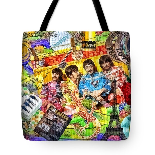 Pepperland Tote Bag by Mo T