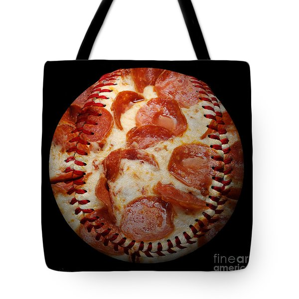Pepperoni Pizza Baseball Square Tote Bag by Andee Design