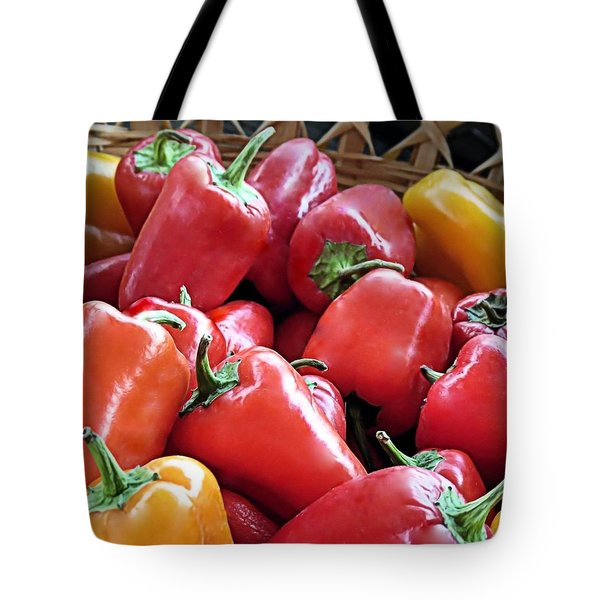 Peppers Tote Bag by Janice Drew