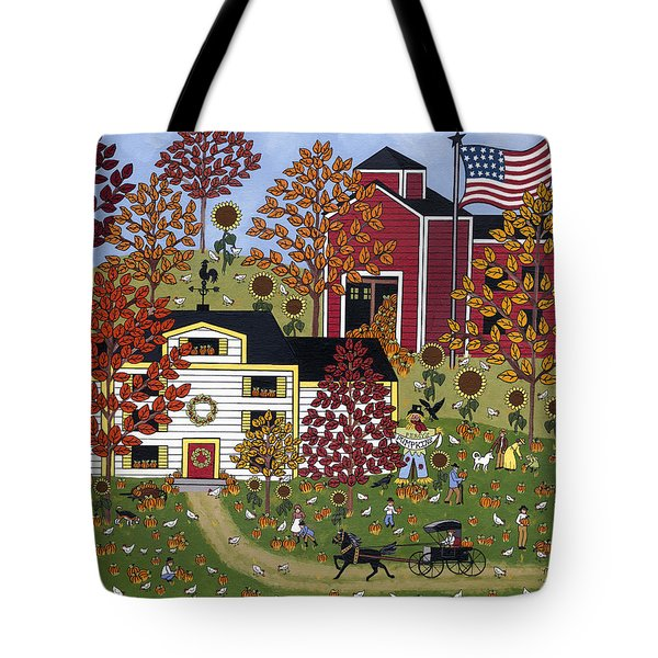 Percy's Pumpkin Patch Tote Bag by Medana Gabbard