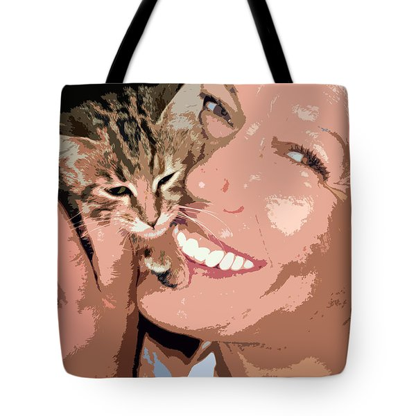perfect smile Tote Bag by Stylianos Kleanthous