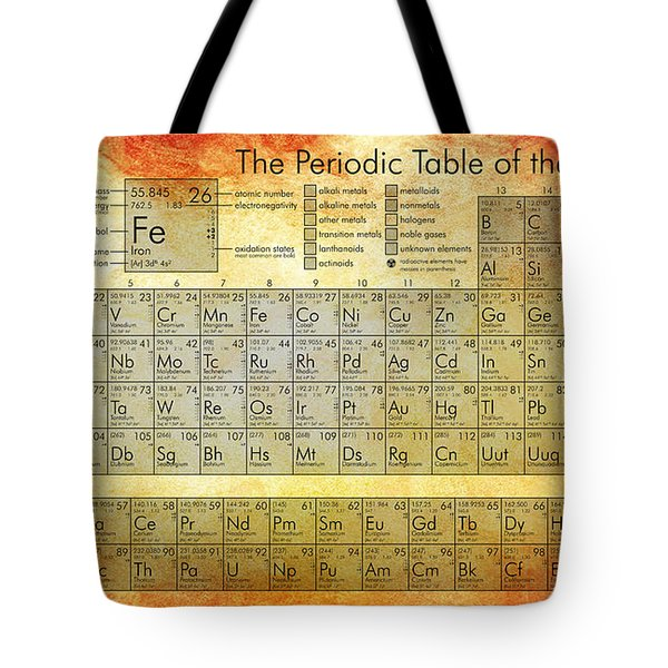 Periodic Table Of The Elements Tote Bag by Georgia Fowler
