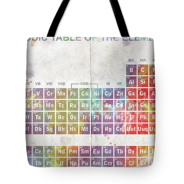 Periodic Table of The Elements Tote Bag by Paulette B Wright