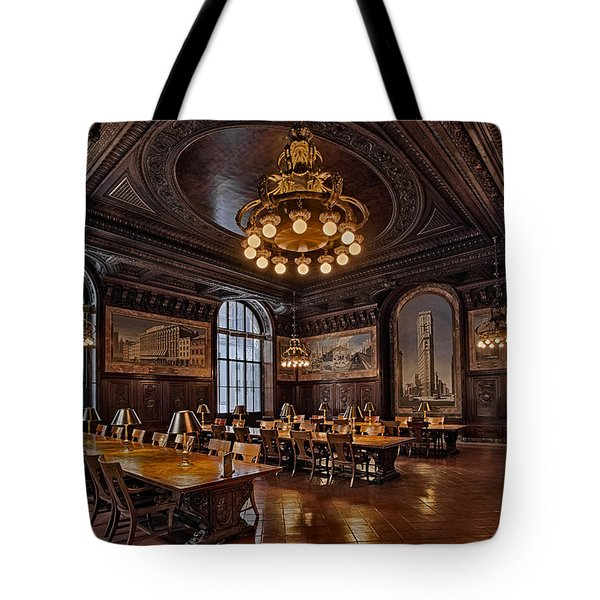 Periodicals Room New York Public Library Tote Bag by Susan Candelario
