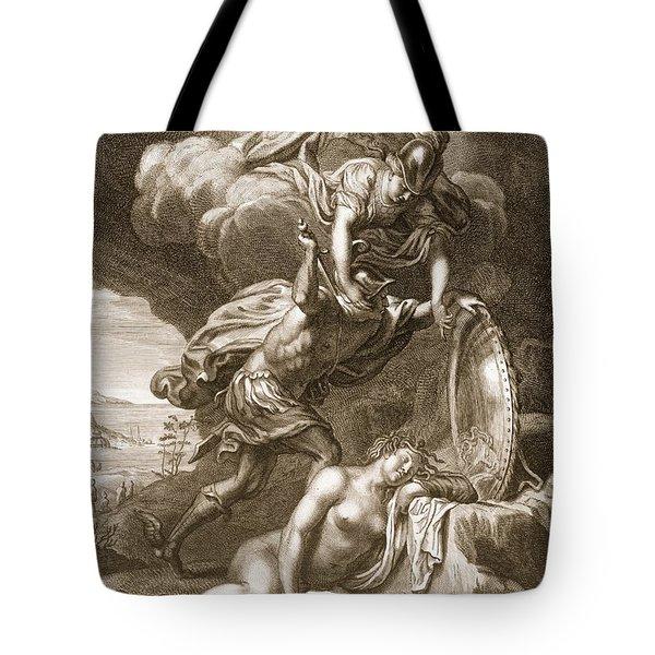 Perseus Cuts Off Medusas Head, 1731 Tote Bag by Bernard Picart
