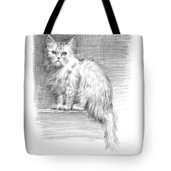 Persian Cat Tote Bag by Sarah Parks