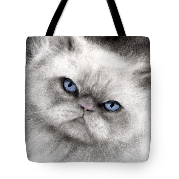 Persian Cat with blue eyes Tote Bag by Svetlana Novikova