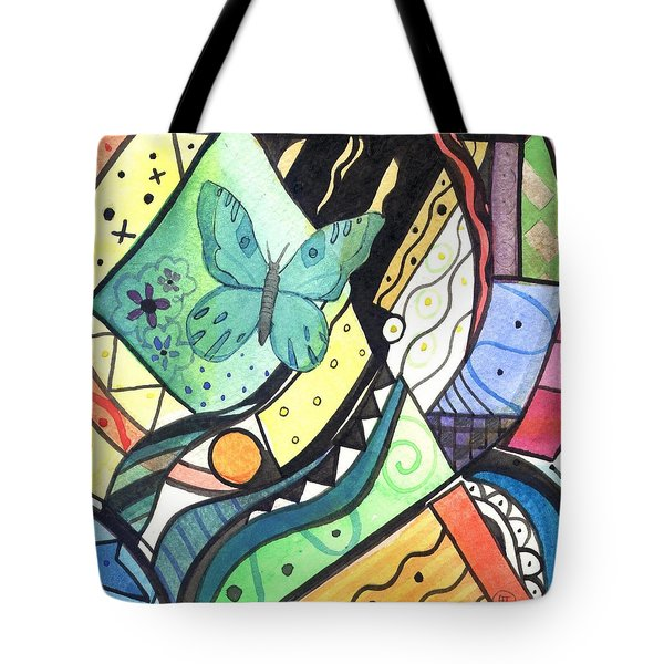 Persistence Of Form Tote Bag by Helena Tiainen